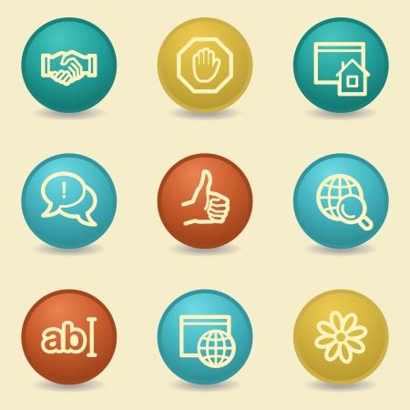 icq: Internet web icons, retro buttons Illustration