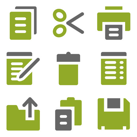 Document web icons set, kiwi series photo