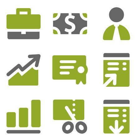 Finance web icons set, kiwi series