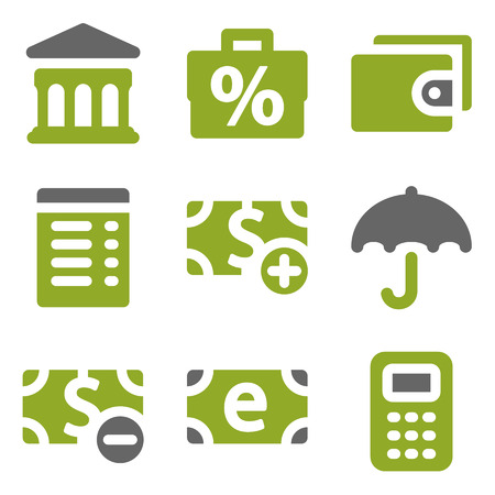 Finance web icons set, kiwi series photo