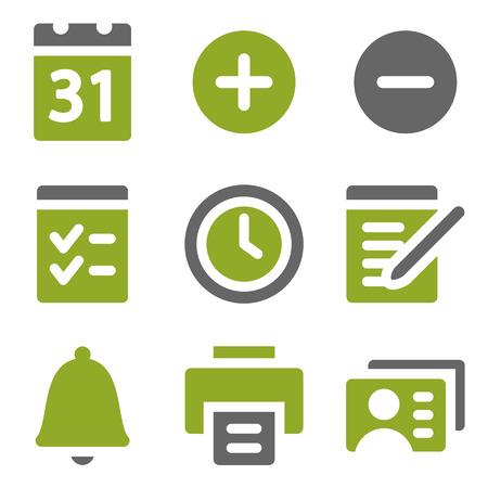 Organizer web icons set, kiwi series photo