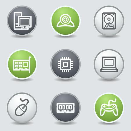 webcamera: Computer web icons, circle buttons