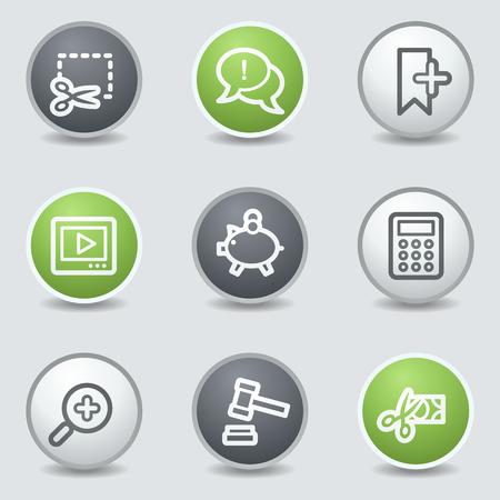 Shopping web icons set 3, circle buttons Vector