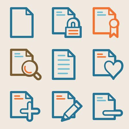 Document web icons, vintage series