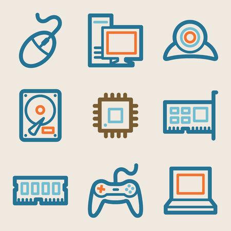 webcamera: Computer web icons, vintage series
