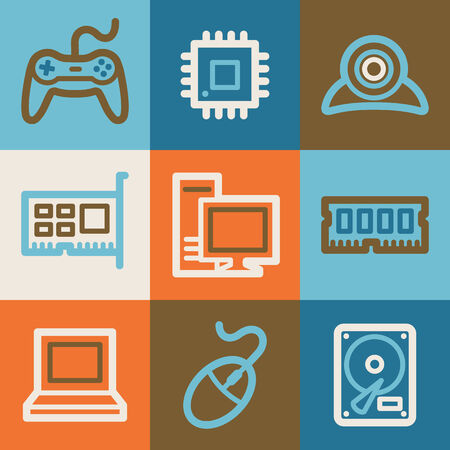nettop: Computer web icons, vintage series