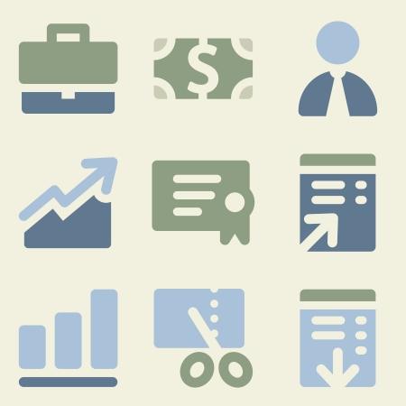 Finance web icons money color set