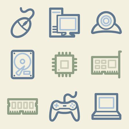 ddr: Computer web icons, money color set