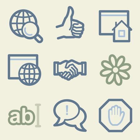 icq: Internet web icons, money color set