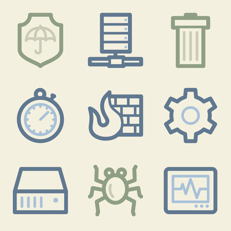 Internet security web icons, money color set Vector