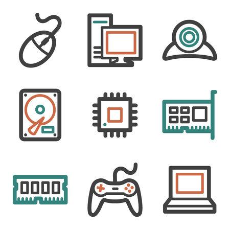 nettop: Computer web icons, contour series