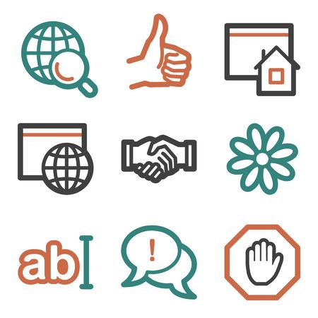 icq: Internet web icons, contour series