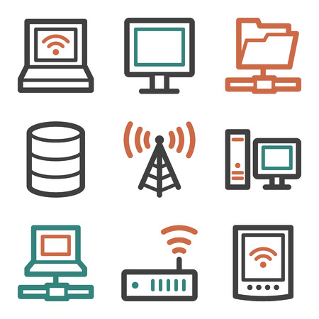 nettop: Network web icons, contour series