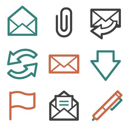 E-mail web icons, contour series Illustration