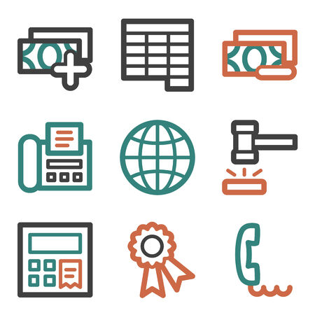 Finance web icons, contour series Vector