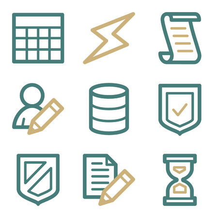 Database web icons, two color series Vector