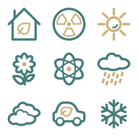 Ecology web icons, two color series Vector