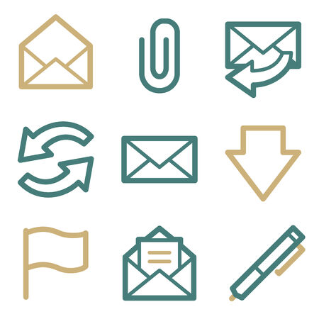E-mail web icons, two color series