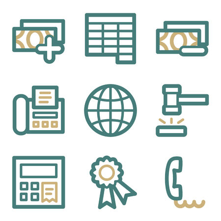 Finance web icons, two color series Vector