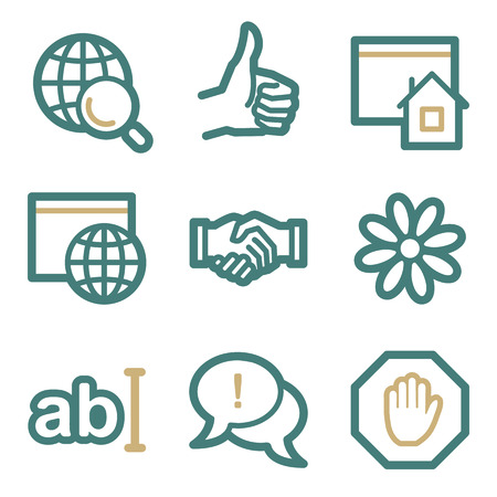 icq: Internet web icons, two color series