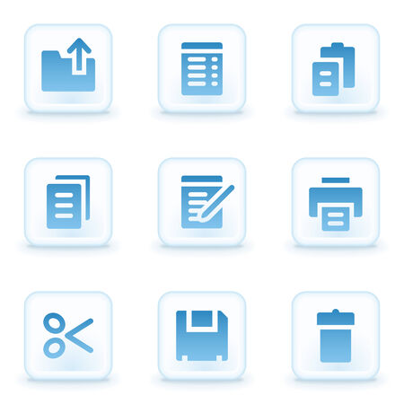 Document web icons, winter buttons Vector
