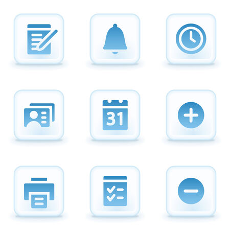 Organizer web icons, winter buttons Vector