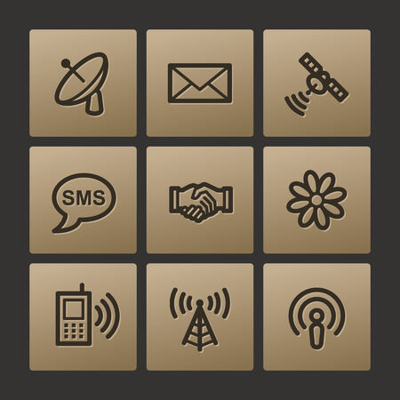 access point: Communication web icons, buttons set