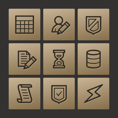 edit icon: Database web icons, buttons set Illustration