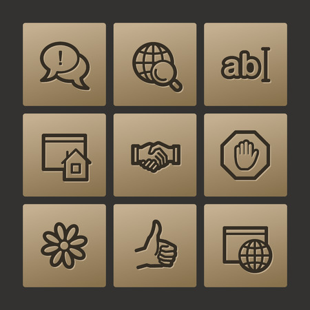 Internet web icons, buttons set Vector
