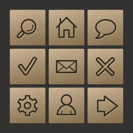 Basic web icons, buttons set Vector
