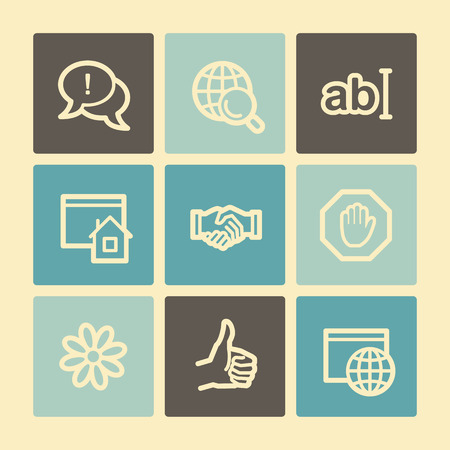 icq: Internet web icons, buttons set
