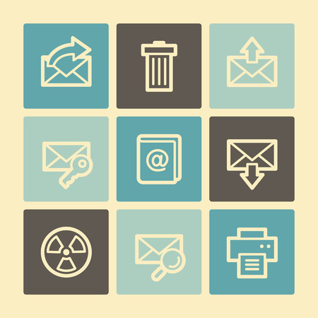 E-mail web icons, buttons set Vector