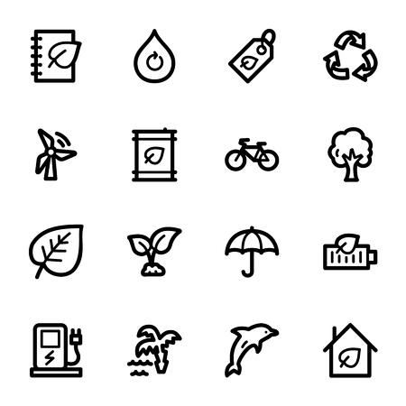 bio diesel: Green ecology web icons set