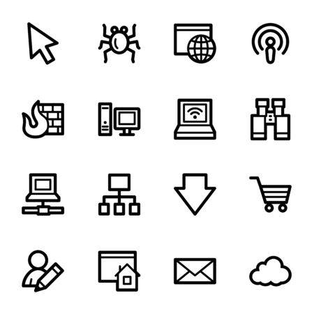 Internet web icons set Vector