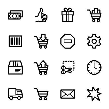 web icons: Shopping cart web icons