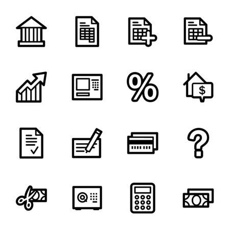 Banking web icons set Vector