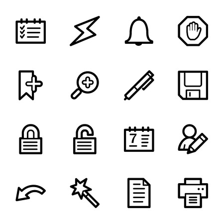 scheduler: Scheduler web icons set Illustration
