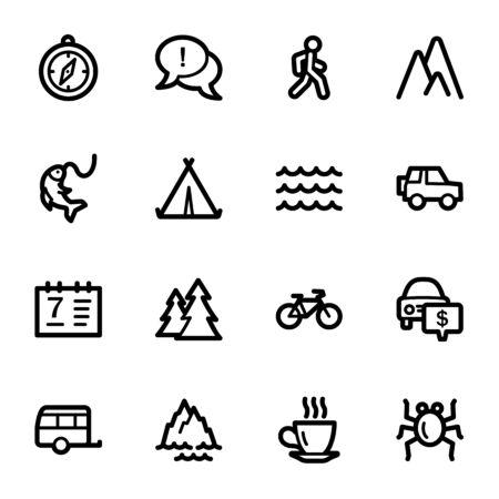 web icons: Travel web icons set