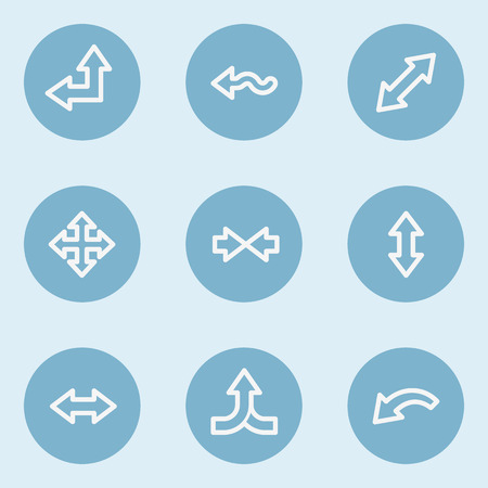 blue buttons: Arrows web icon set 2 , blue buttons Illustration