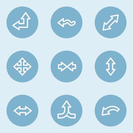 web 2: Arrows web icon set 2 , blue buttons Illustration