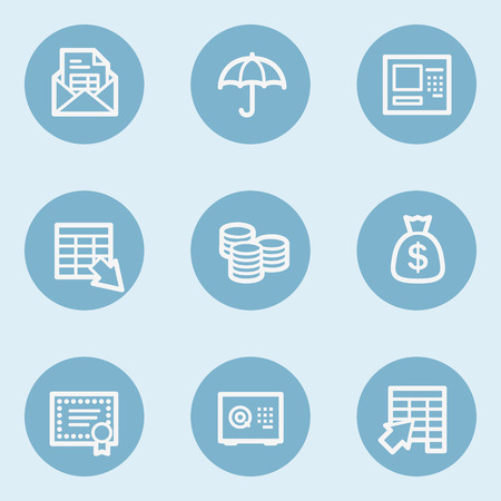 blue buttons: Banking web icons, blue buttons Illustration