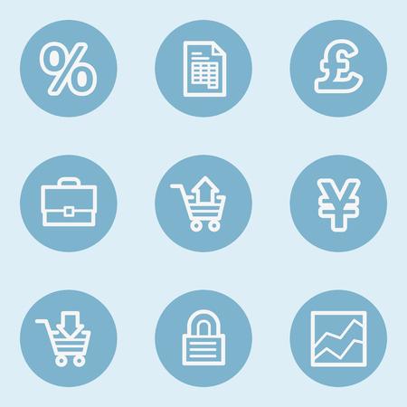blue buttons: E-business web icons,  blue buttons