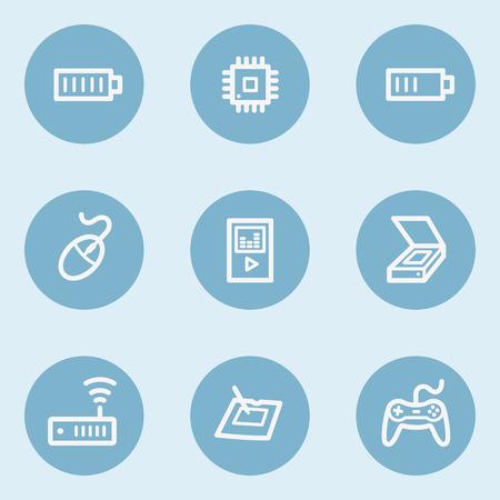 web 2: Electronics web icon set 2,  blue buttons Illustration