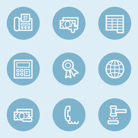 blue buttons: Finance web icon set 2,  blue buttons