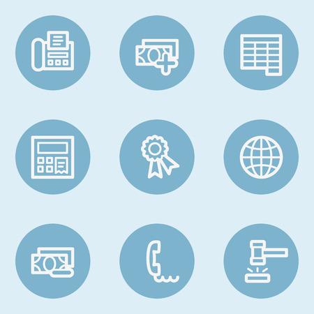 blue buttons: Finance web icon set 2,  blue buttons