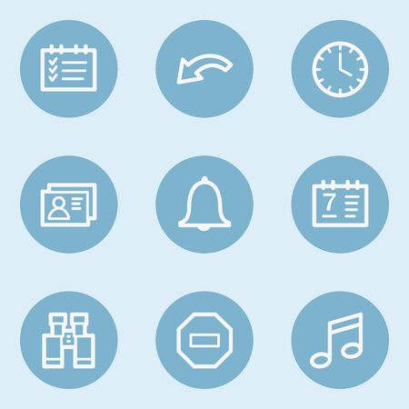 blue buttons: Organizer web icons , blue buttons Illustration