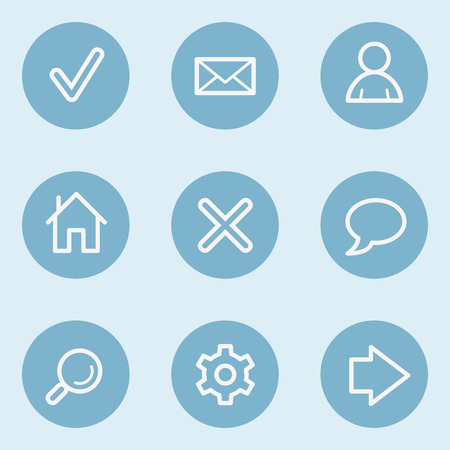 blue buttons: Basic web icons , blue buttons Illustration