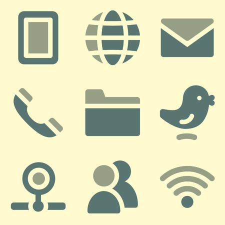 webcamera: Communication web icons set