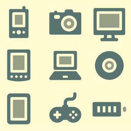 web icons: Electronics web icons set