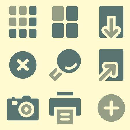 viewer: Image viewer web icons set